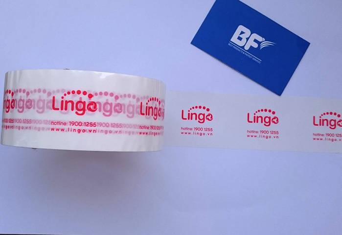 Băng keo in logo Lingo